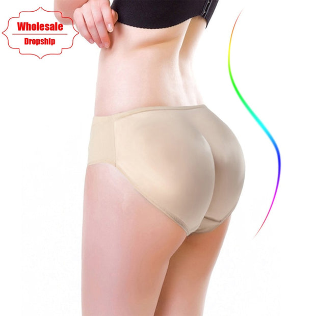 NINGMI Hot Shaper Boyshort Push Up Control Panties Women Big Ass Underwear Fake Butt Pad Waist Trainer Butt Lifter Hip Enhancers
