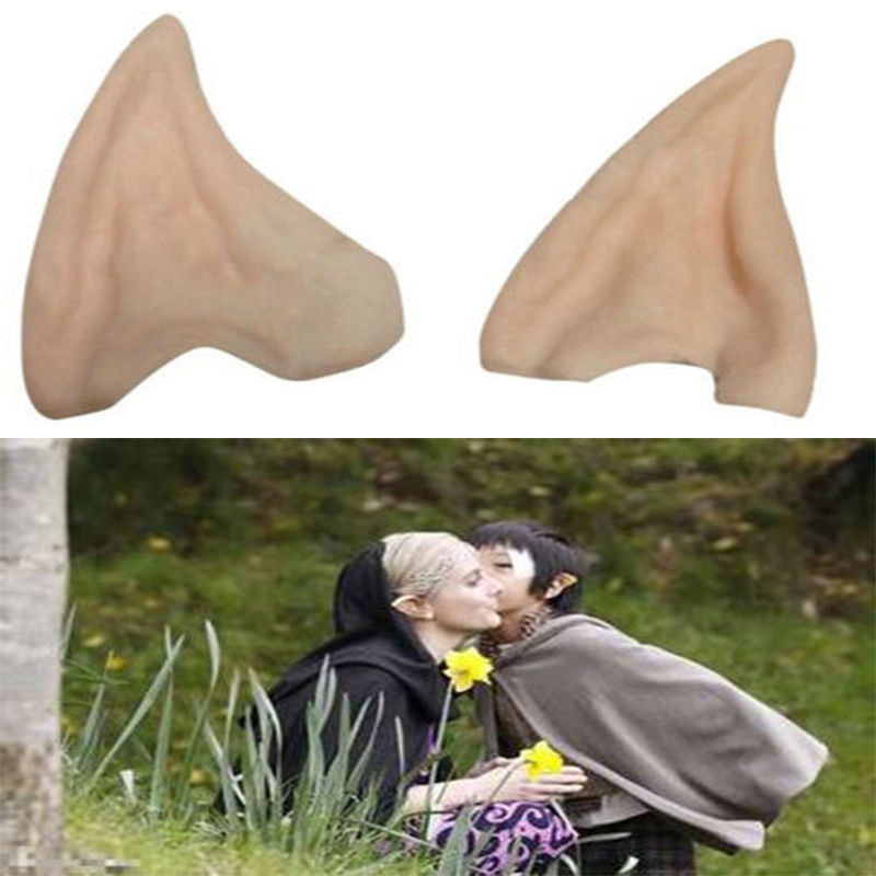 Latex Fairy Pixie Elf Ears Cosplay Accessories LARP Halloween Party