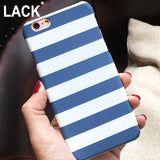 Zebra Stripe Case For iphone 6 Case Hard White Black Blue Cover Case for iPhone 6S 6 Plus 5 5S Protect Phone Cases Coque Capa