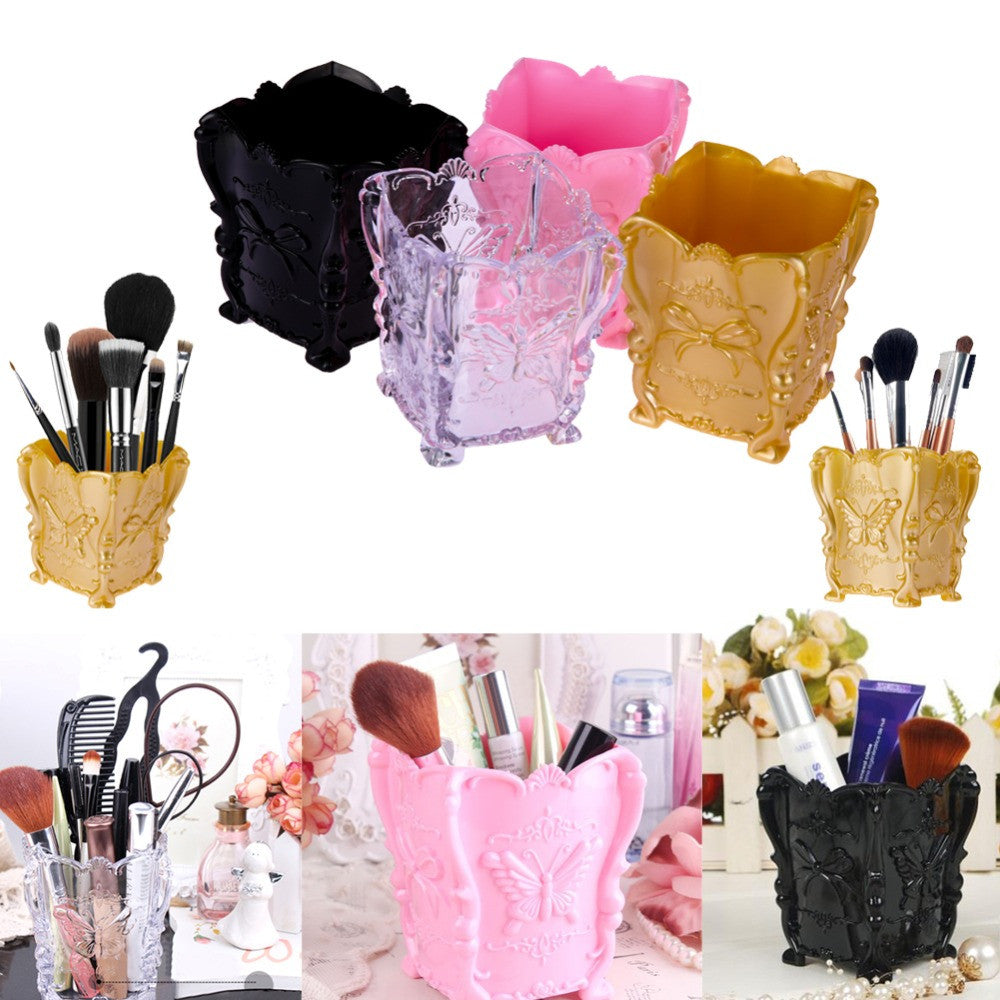 Fashion New Design Acrylic Makeup Cosmetic Storage Box Case Brush