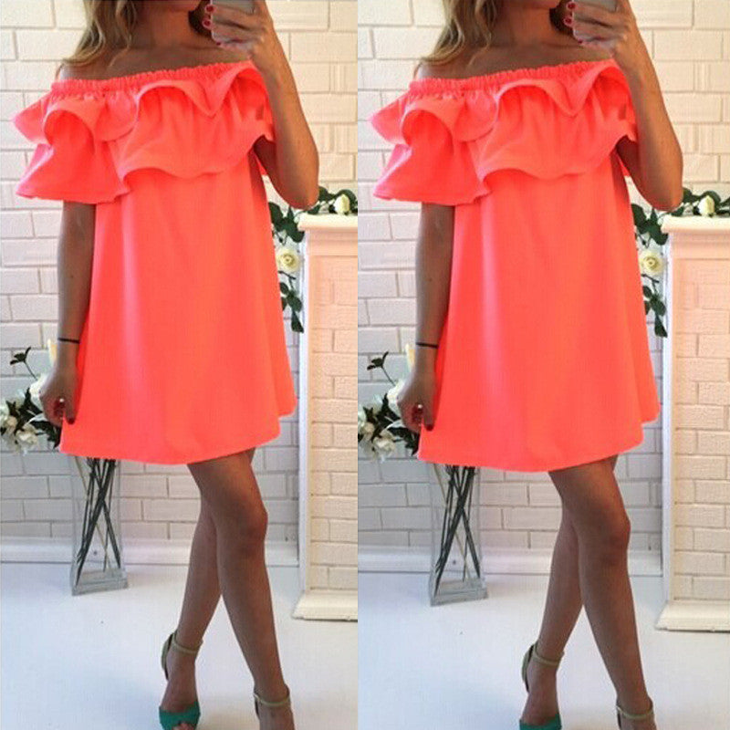 new summer dresses sexy short sleeve beach dress fashion colorful