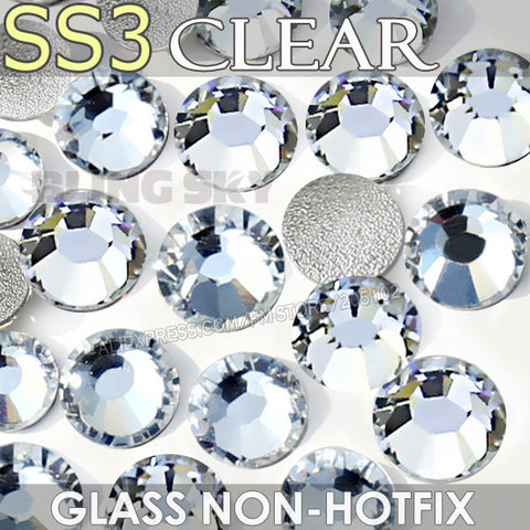 SS3 1.3-1.4mm Clear Nail Rhinestones for to Nails Art Glitter Crystals Decorations DIY Non HotFix Rhinestone Decor strass stones
