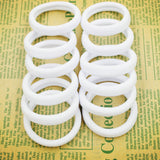 New 50pcs/bag 40mm Pure White Hair Holders Rubber Bands Elastics Girl Women Tie Gum Fashion