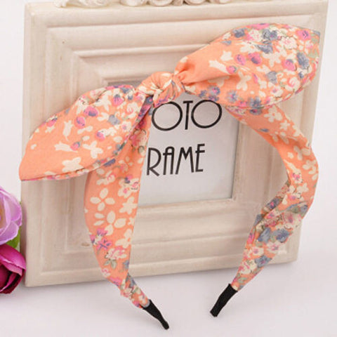 New Floral Flowers Hairband Fabric Butterfly Bow Knot Hair Hoop Rabbit Ears Headband for Headwear Women Hair Accessories