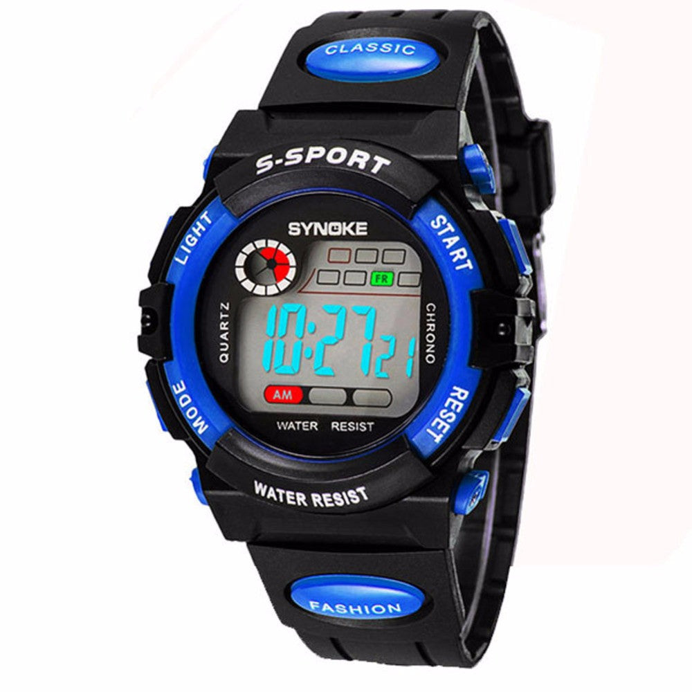Chic Kid Boy Girl Water Resistance Sports for Student Electronic Wrist