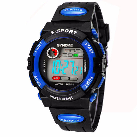 Chic Kid Boy Girl Water Resistance Sports for Student Electronic Wrist Watch Children