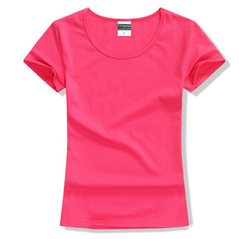 Brand New fashion women t-shirt brand tee tops Short Sleeve Cotton tops for women clothing solid O-neck t shirt ,