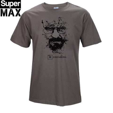 CXT03-C1 Top quality COTTON o neck heisenberg men tshirt short sleeve print casual breaking bad print T shirt for men