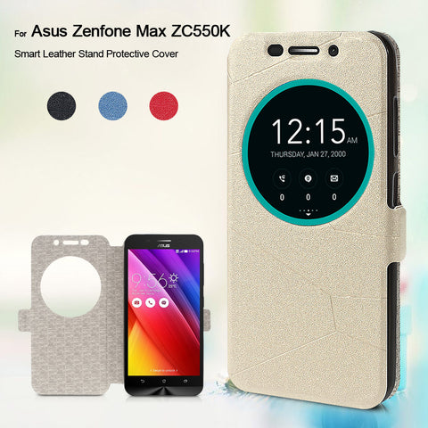 Hot Selling For Asus Zenfone Max ZC550KL Case Smart PU Leather Stand Protective Cover For Asus Zenfone Max ZC550KL - 5.5 inch