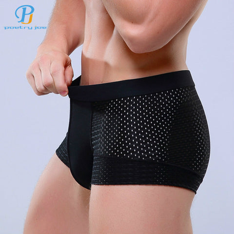 Breathable Mesh Silk Men's Boxer Four Corner Underwear Wholesale New Underwear Men Cotton Mens Bodysuit Underwear