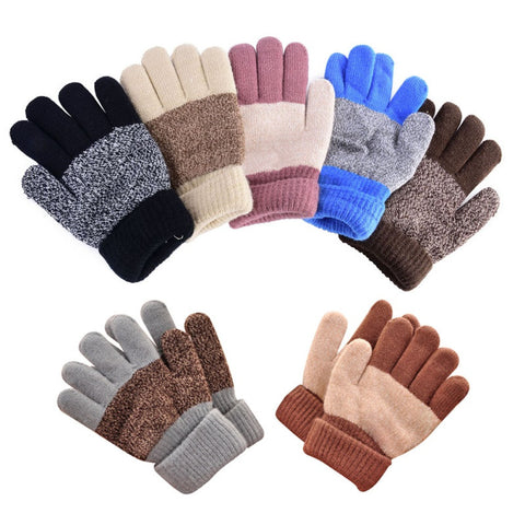 Brand Flowerhorse Winter Warm Gloves Kid Boy Girl's Warmer Mittens Finger Gloves