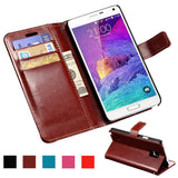 Wallet PU Leather Case For Samsung Galaxy Note 4 N9100 Coque Luxury Phone Bag Flip Cover For Samsung Galaxy Note 4 Cases