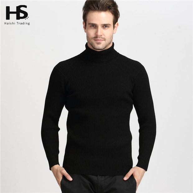 Winter Thick Warm 100% Cashmere Sweater Men Turtleneck Men Brand