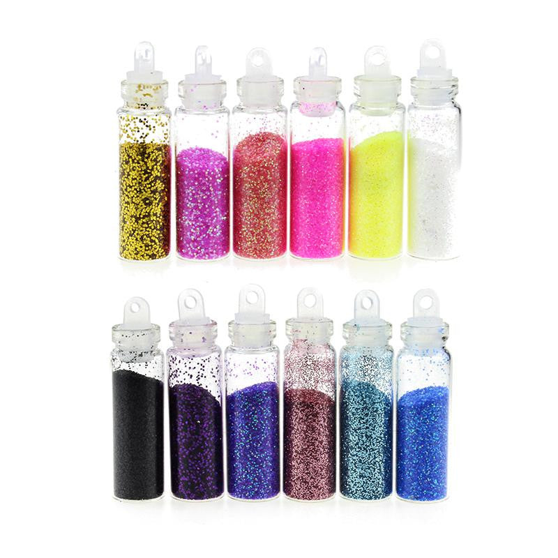 Blueness Colorful Phosphor Powder DIY Nail Tips Glitter Wheel Manicure