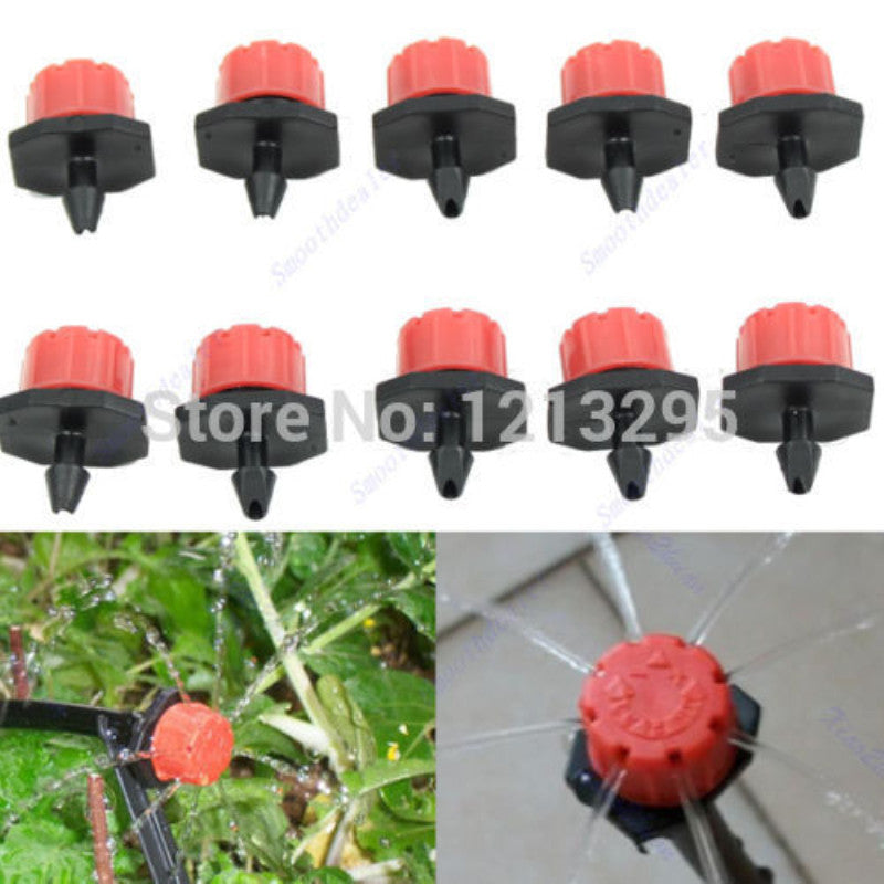 Y102 50pcs Garden Irrigation Misting Micro Flow Dripper Drip Head