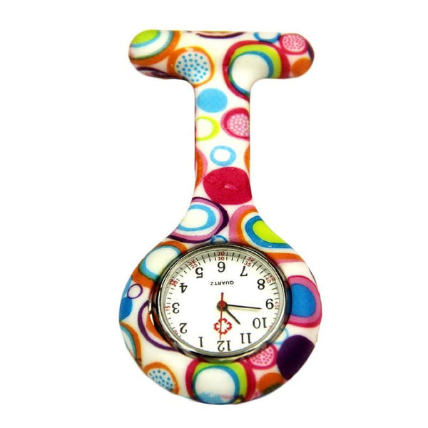 Hot Sale Colored Circles Nurse Clip-on Fob Brooch Pendant Hanging Pocket Watches Good-looking JUN 23