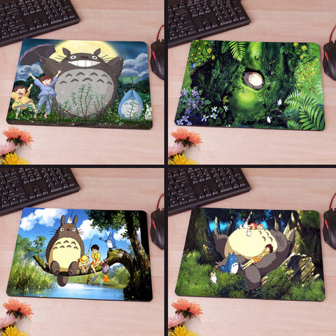 My Neighbour Totoro Totoro anime umbrellas wallpaper New Anti-Slip Mouse Pad PC Game Gaming Mouse Pad