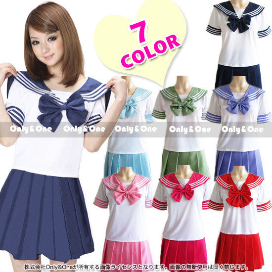 Japanese School Uniform - Newest Sexy Sailor Costumes 7 COLORS Anime