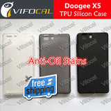 DOOGEE X5 Silicon Case 100% New Anti-Oil Soft TPU Protective Back Silicon Cover For DOOGEE X5 Pro Mobile Phone +