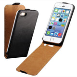 Flip Case For Apple iPhone 5 / 5S / SE PU Leather Cover + Hard Black Plastic Back Luxury i Phone With Magnetic Buckle Fundas