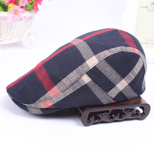 Classic Men Hats Casual Spring Summer Man Hat Travel Outdoor Lattice