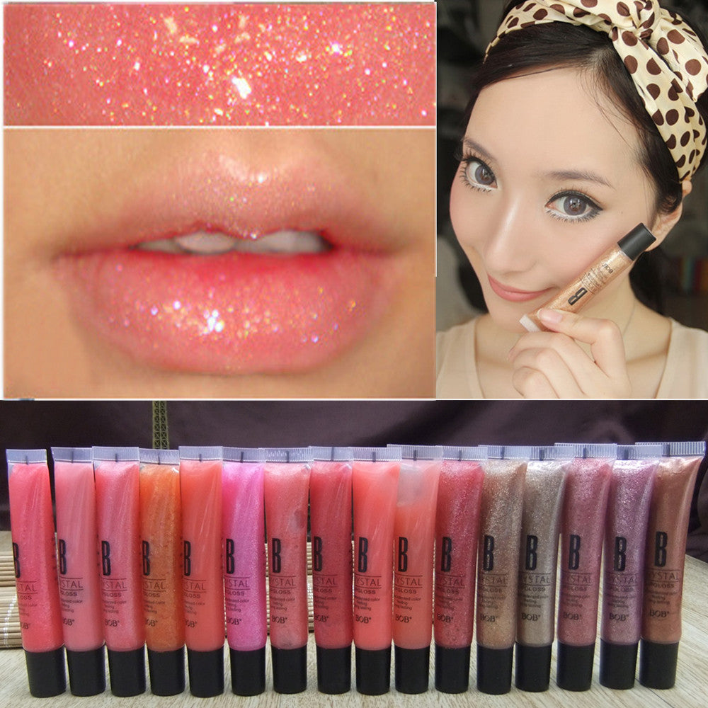 Brand New 9 Colors Diamond Sand Gold Liquid Lipsticks Nude Makeup