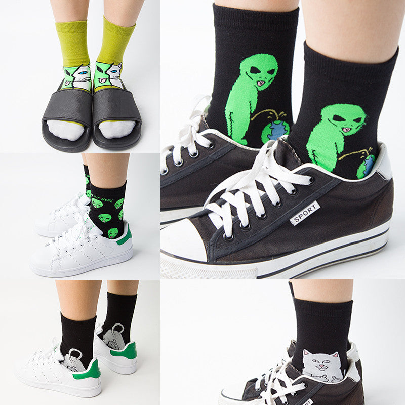 Brand Elegant Creative Women Cat Socks Kawaii Ladies Cartoon Cotton