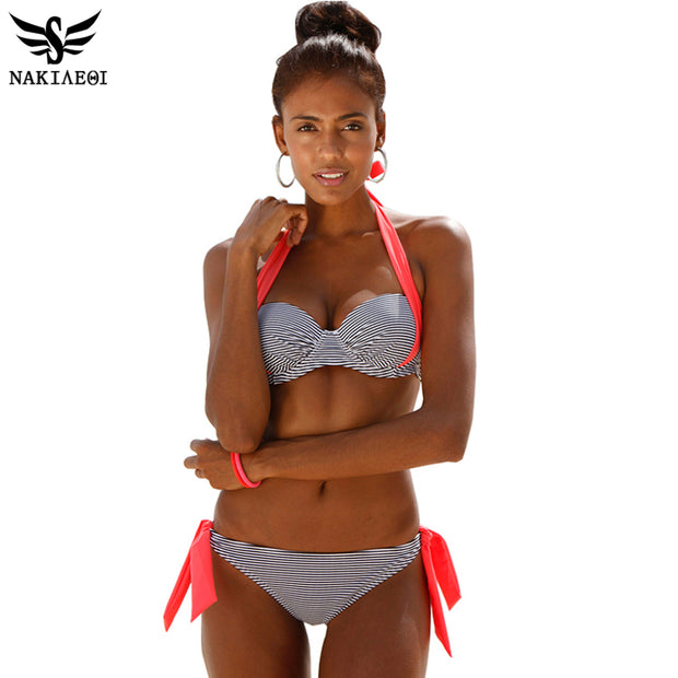 NAKIAEOI 2016 New Sexy Bikinis Women Swimsuit Push Up Bikini Set