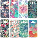 Mandala Flower Datura Floral Clear Hard Plastic Case Cover For Samsung Galaxy A3 A5 A7 A8 J1 J5 J7 A300 A500 A700