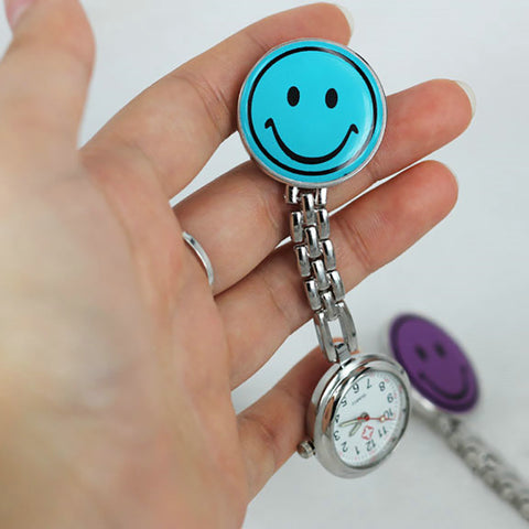 new fashion Cute Nurse Portable White Smiling Face Love butterfly Design Pocket Watches women