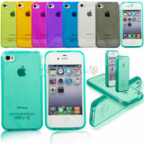 Ultra thin Colorful Transparent CLEAR JELLY TPU Gel Soft Silicone Case Cover Protector For iPhone 7 4 4S 5 5S 5G SE 6 6s 7 Plus