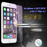 for iphone 7 plus Ultrathin Tempered Glass Protector Clear Case for Apple iphone 4 4S 5 5S 5C 6 6S Plus Film Cover Accessories