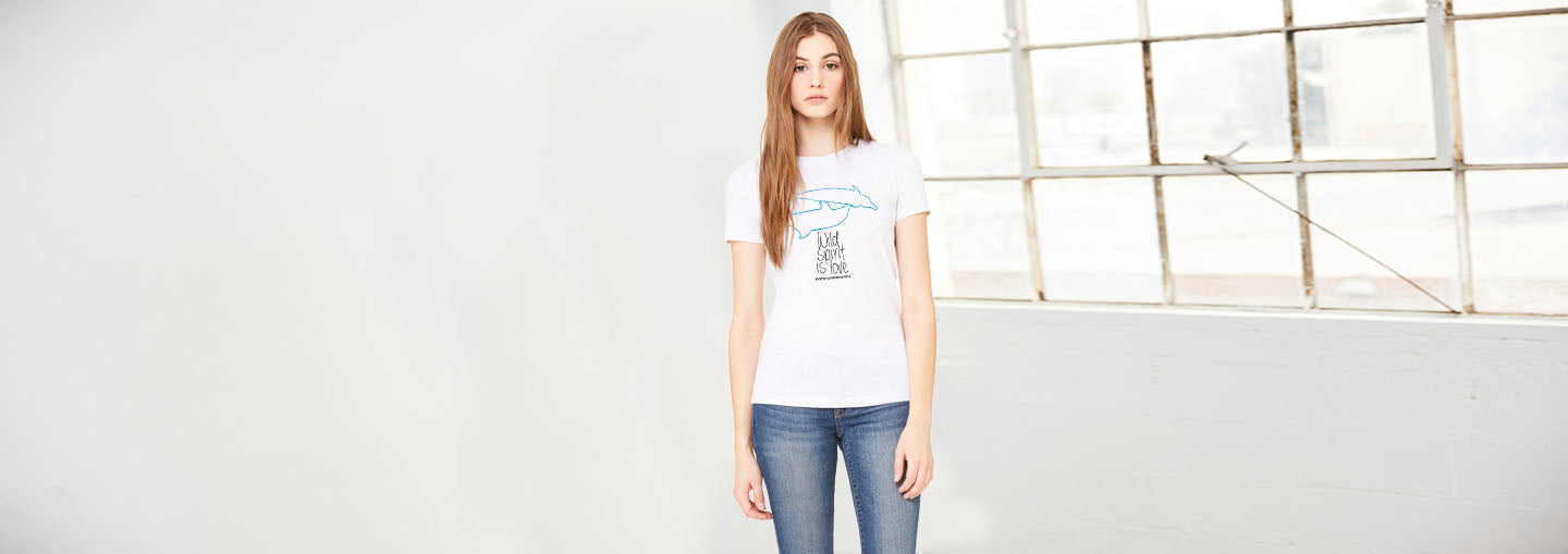 Women Dolphins Crew Neck diving Tee