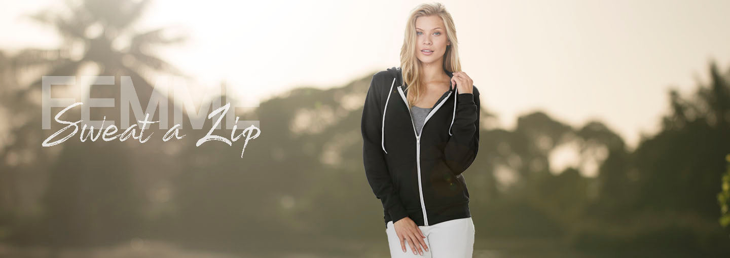 Collection Sweat shirts thick zip and hooded for women