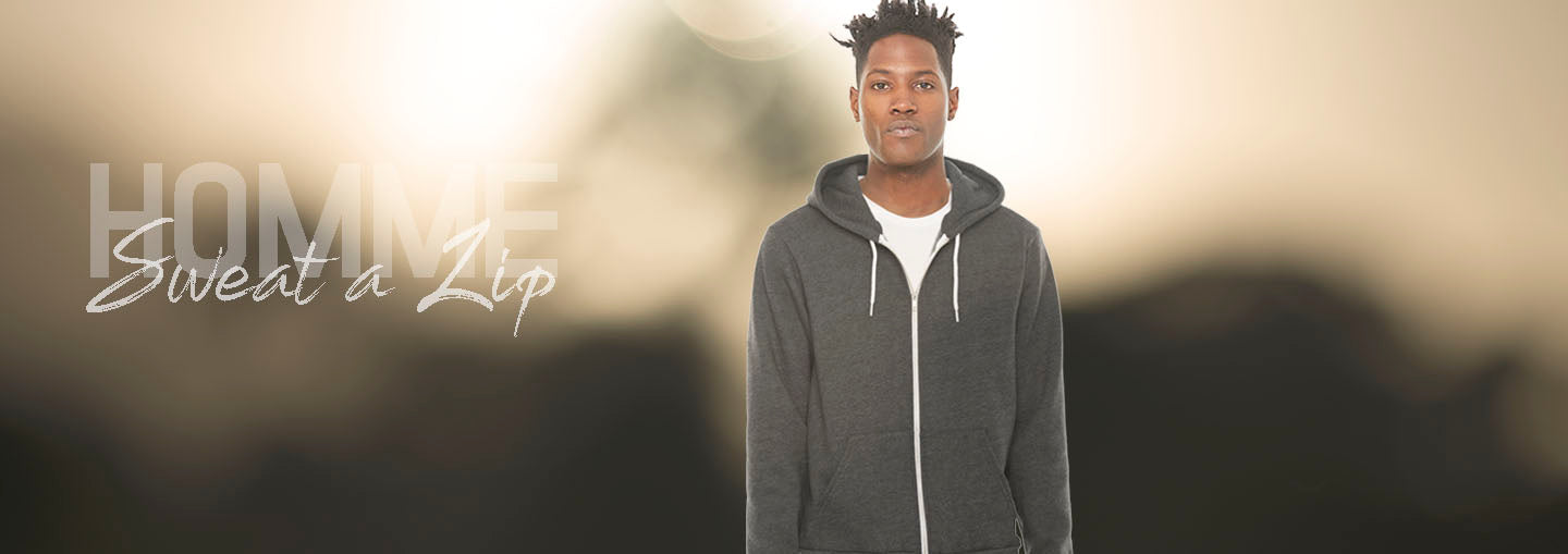 Collection Sweat shirts thick zip and hooded for Men