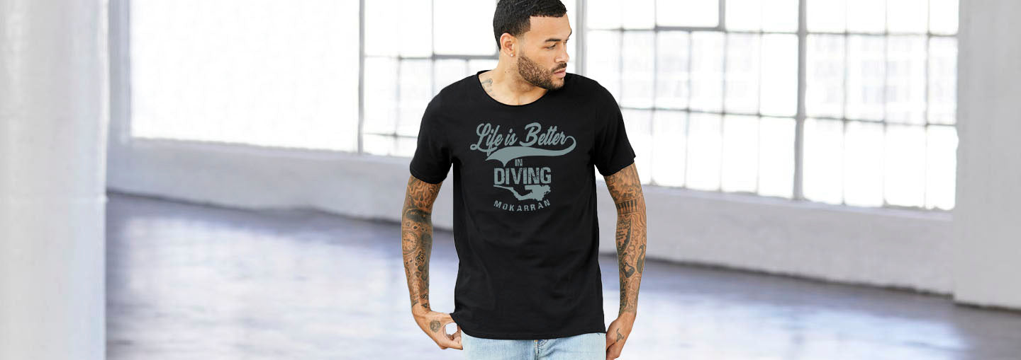 T-shirt diving for man life is better in diving