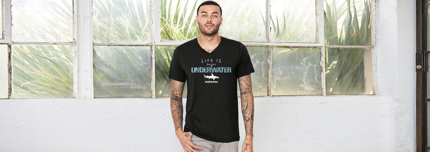 tee shirt plongée life is better underwater