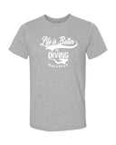 Life Is Better In Diving tee shirt gris chiné pour homme