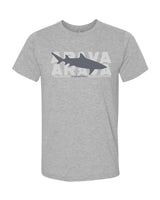 t-shirt gris chiné requin citron