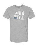 Tee shirt plongée gris chiné Mokarran pour homme Be wild and free