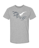 Tee shirt plongée requin marteau Be different gris chiné