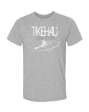 Tiger shark diving t-shirt Tikehau Polynesia gray