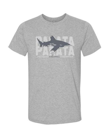 t-shirt gris chiné requin océanique