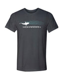 Gray shark swim diving t shirt