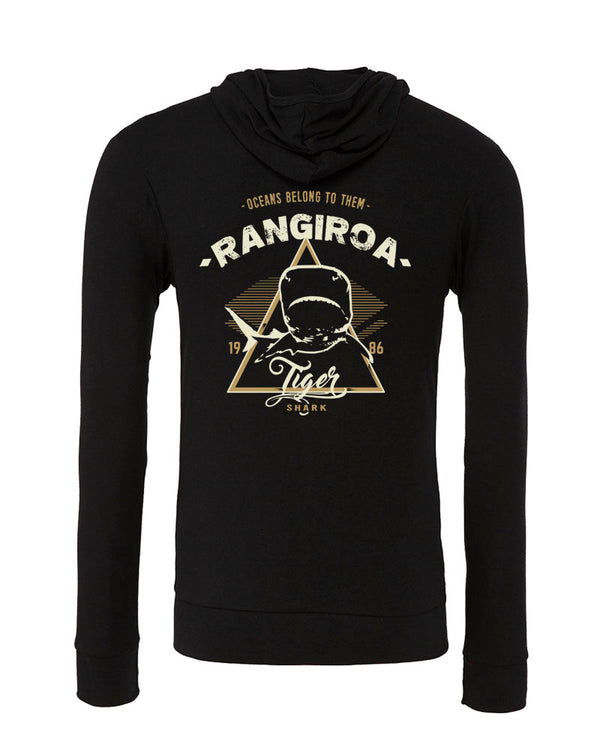 Sweat shirts plongée requin tigre Rangiroa noir
