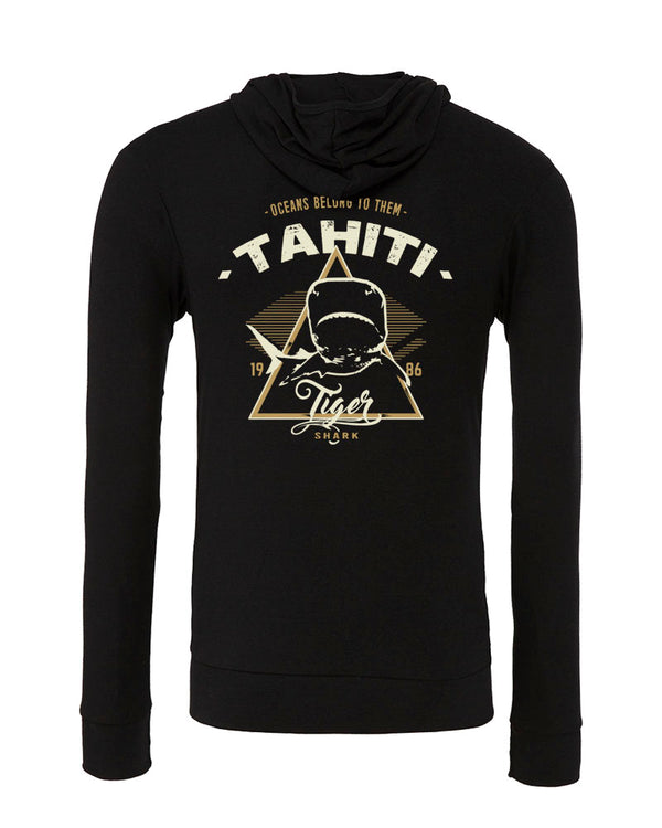 sweat shirts plongée requin tigre tahiti noir