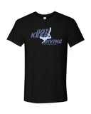 Black diving t-shirts for men