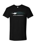 black t-shirt for diver