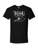 Tiger shark diving t-shirt Tikehau Polynesia black