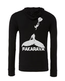 Black Fakarava whale diving sweatshirt